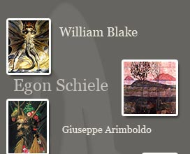 william blake, egon schiele, giuseppe arcimboldo art prints