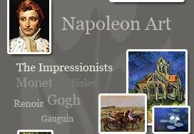 the impressionists, renoir, monet, manet, napoleon art prints, canvas
